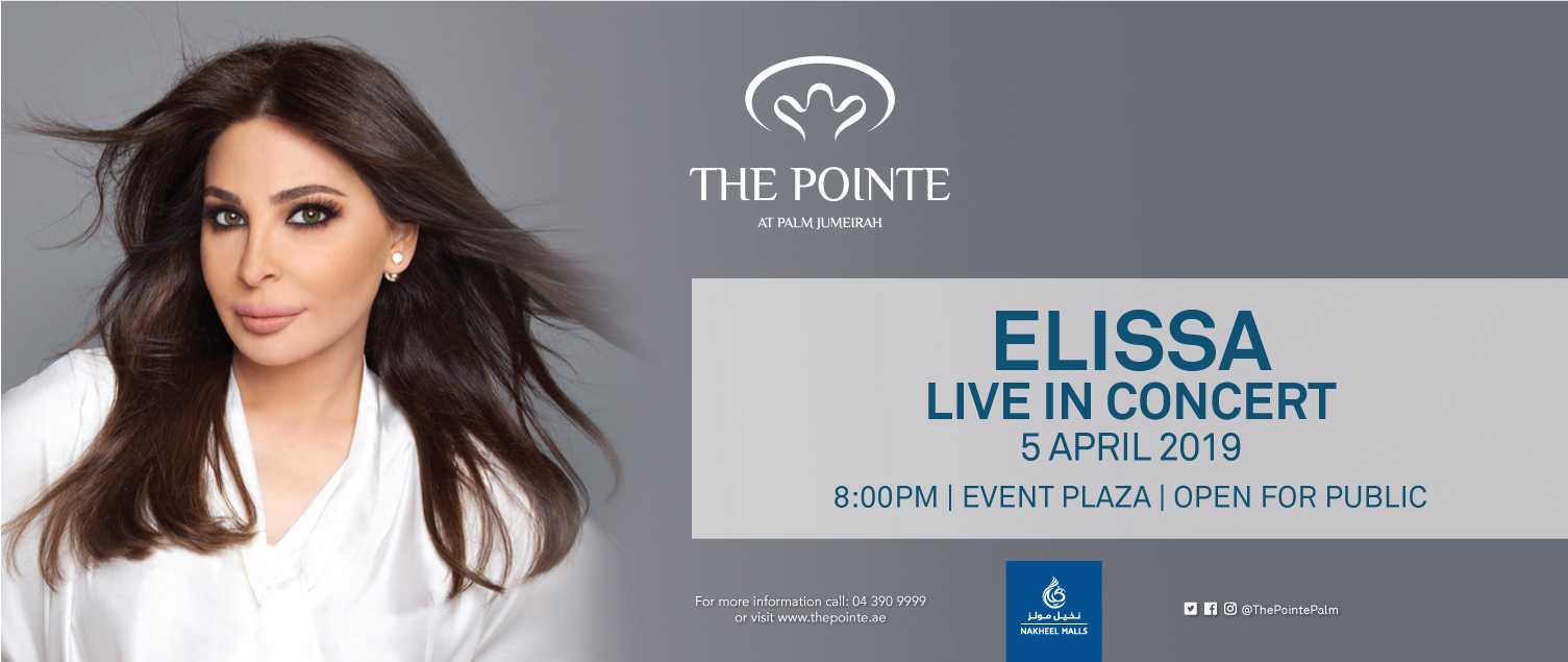 Lebanese nightingale Elissa to perform free live concert at The Pointe at Palm Jumeirah