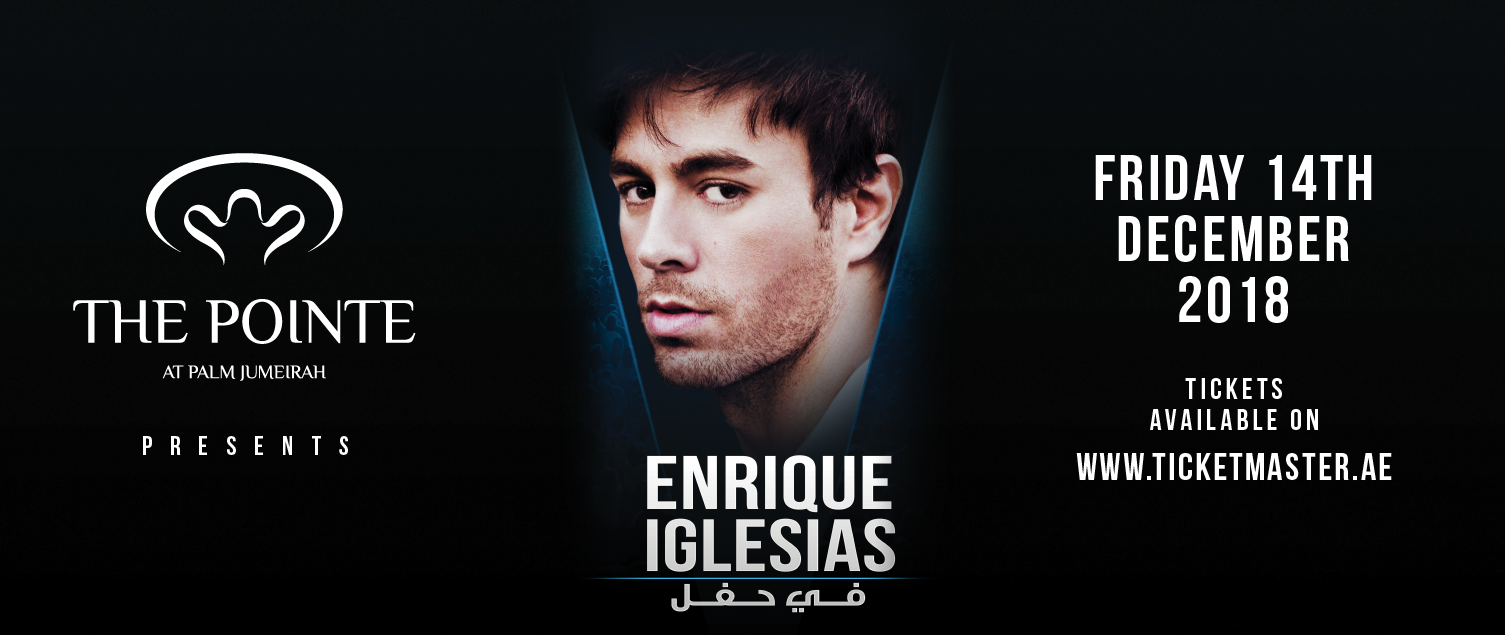 Enrique Iglesias to headline concert on the water at The Pointe at Palm Jumeirah on 14 December